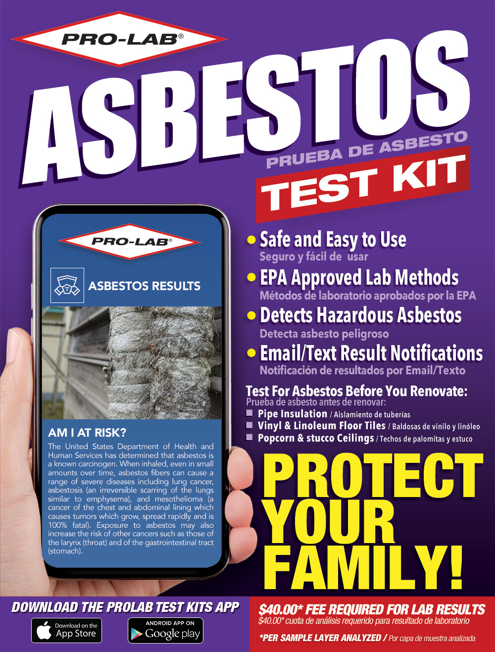 Asbestos Test Kit Pro Lab Kits